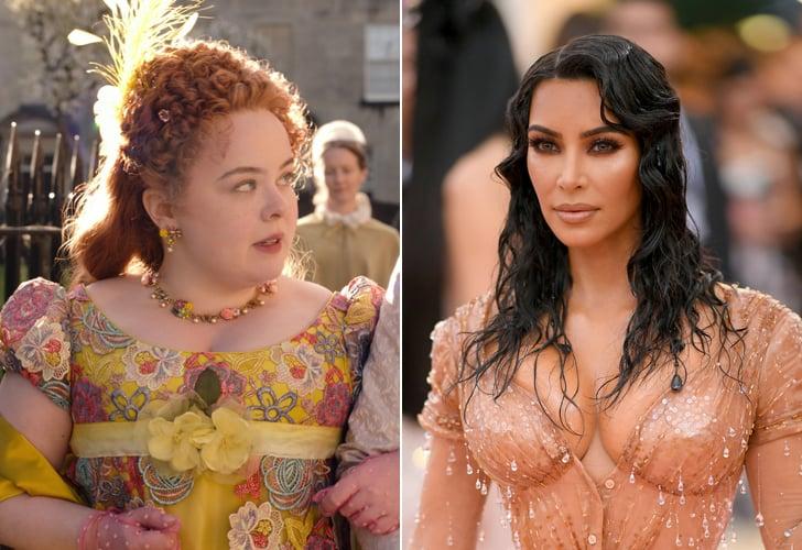 Kim Kardashian and Bridgerton's Nicola Coughlan Talk Corsets