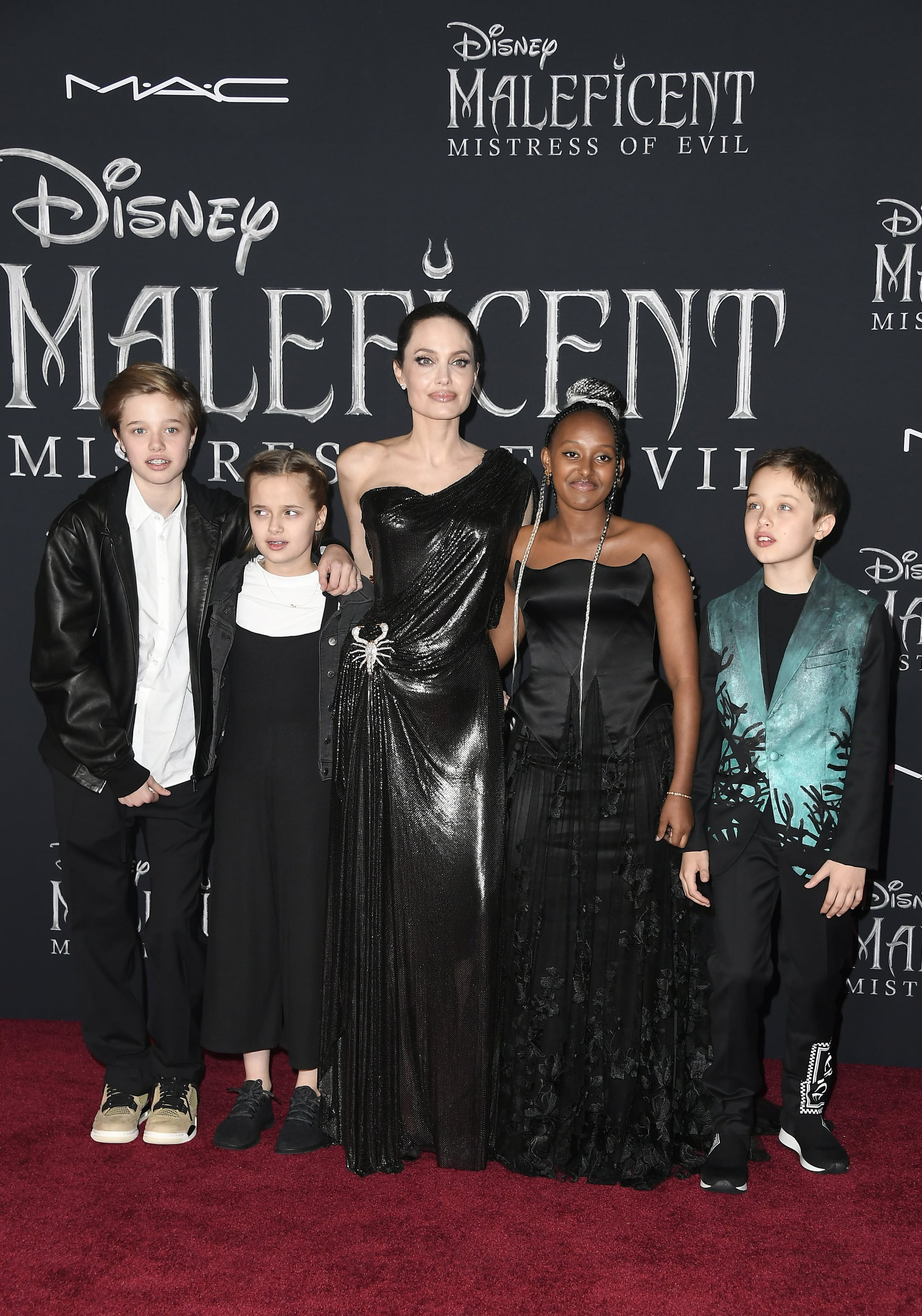 Angelina Jolie And Her Kids At The Maleficent Mistress Of