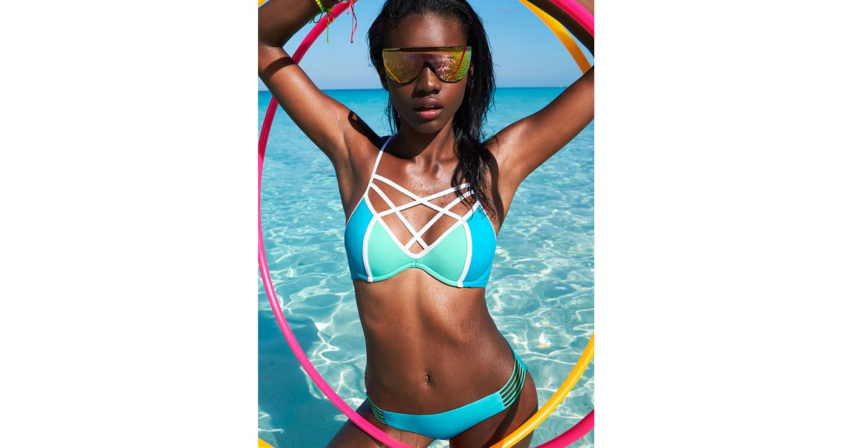 c2ac0d12f8085 The Suit: Victoria's Secret Pink Strappy Front T-Back ($45) Why It ...