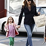 Jennifer Garner and Seraphina picked up some sweets.