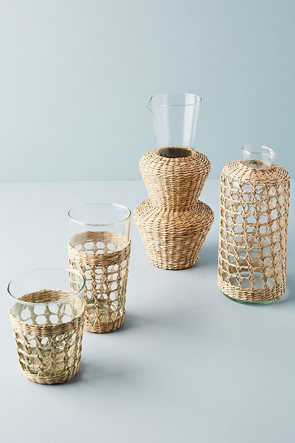Seagrass-Wrapped Tiered Carafe