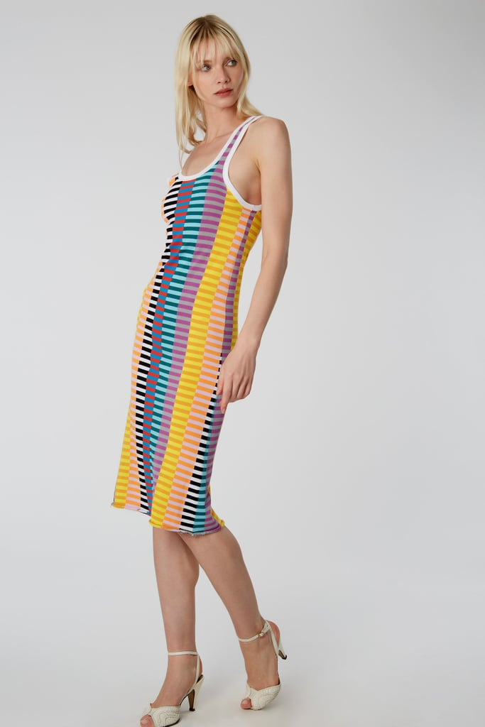 Replica Offset Stripe Tank Dress