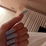 Kylie Jenner's Blue Flame Nails