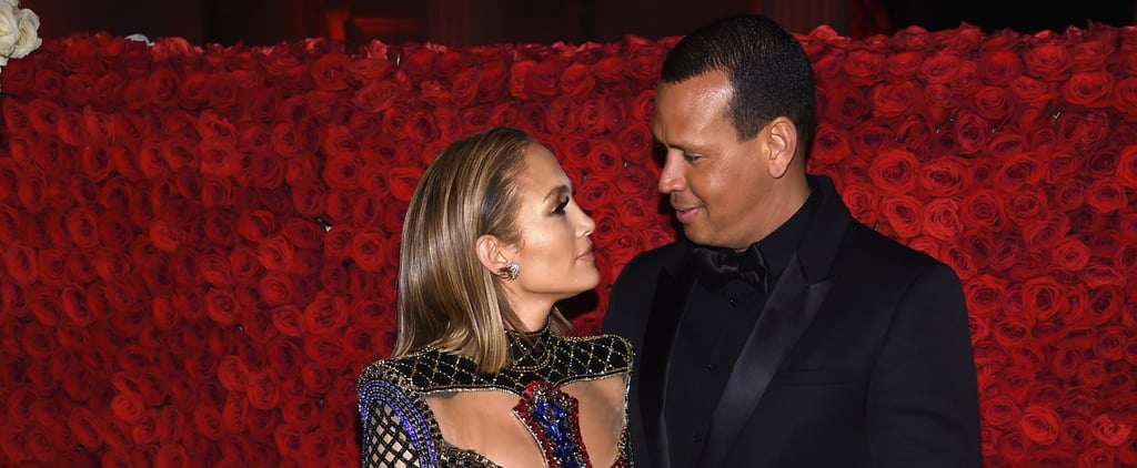 Jennifer Lopez and Alex Rodriguez at the Met Gala 2018