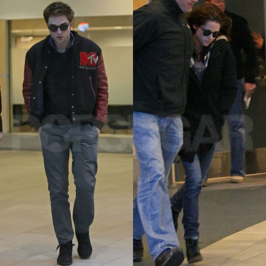 Pictures of Robert Pattinson in Vancouver in Breaking Dawn