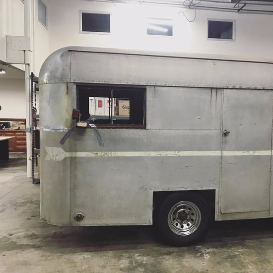 Old Trailer Converted to a Mobile Bar