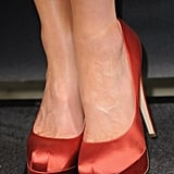 We're not in Kansas anymore — and Kate's slick, red Brian Atwood pumps were proof of it.