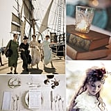 Weddings Through the Decades: Edwardian Inspiration The Edwardian period, also referred to as the Gilded Age, was an era of newfound wealth, the start of industrialization, and peace before the first World War — it's also known for the sinking of the RMS Titanic — and for weddings, this meant rich, extravagant occasions. Several wedding traditions first began during the Edwardian period, including the bridesmaid-then-bride processional, the afternoon ceremony time, and the importance placed upon beautiful wedding gowns. Gold and pastels color schemes were the most popular, while brooches, hats, gloves, and embellished accessories stayed in style. Considering a bit of romantic Downtown Abbey-esque flair for your big day? Here are our favorite picks to help you channel the gorgeous Edwardian style.
