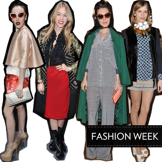 New Fashionable Faces to Know Front Row at Fashion Week: Mary Charteris, Ulyana Sergeenko, Michelle Harper and Elena Perminova