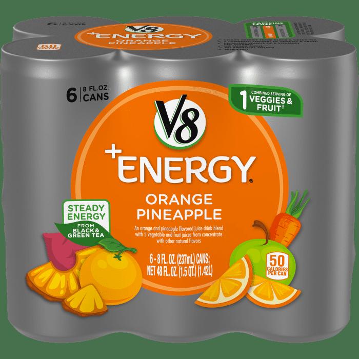 V8 +ENERGY® Orange Pineapple
