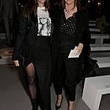 Julia and Carine Roitfeld at Celine Fall 2019