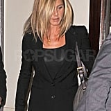 Jen carried her favorite black bag.