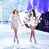 Lily Aldridge and Taylor Swift.