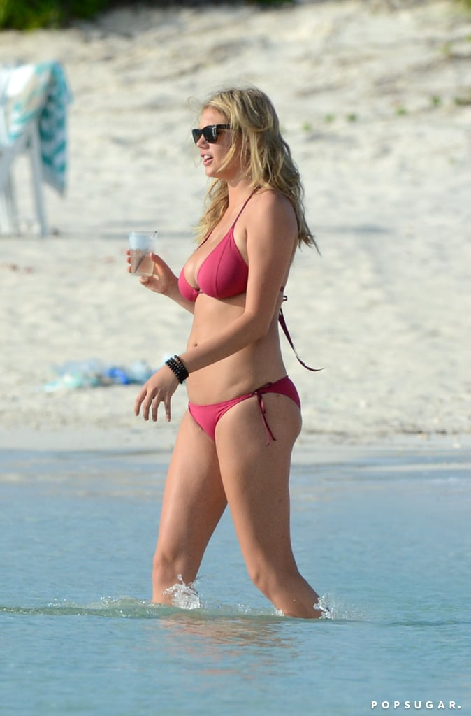 Kate Upton showed off her bikini body.