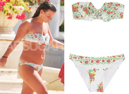 Coleen Rooney in Floral Bikini on Holiday
