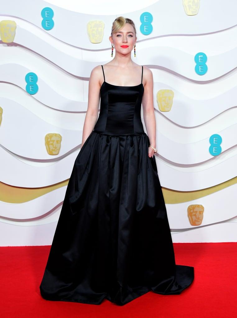 Saoirse Ronan Wears Black Gucci Gown at 2020 BAFTAs