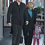 Ben Affleck and Seraphina stopped for a breakfast in LA.