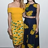 Kate Hudson and Allison Williams posed backstage together at the Michael Kors show.