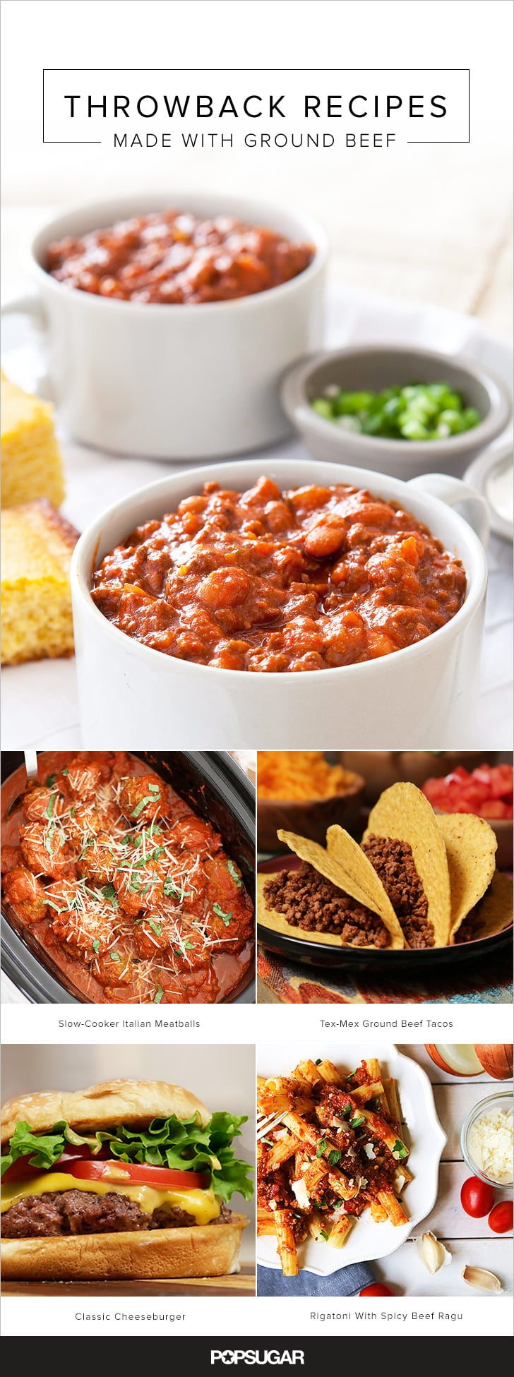 Classic recipes using ground beef popsugar food photo 23 for Meals that can be made with ground beef