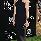 Taylor wowed in a black Calvin Klein Collection gown at the premiere of The Lucky One in LA.