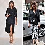 Alexa Chung's looks are the perfect argument for adding a pair of metallic heels to your Spring wardrobe. With a silver sheen, these are right on trend and make the transition seamlessly from dressed up to dressed down.