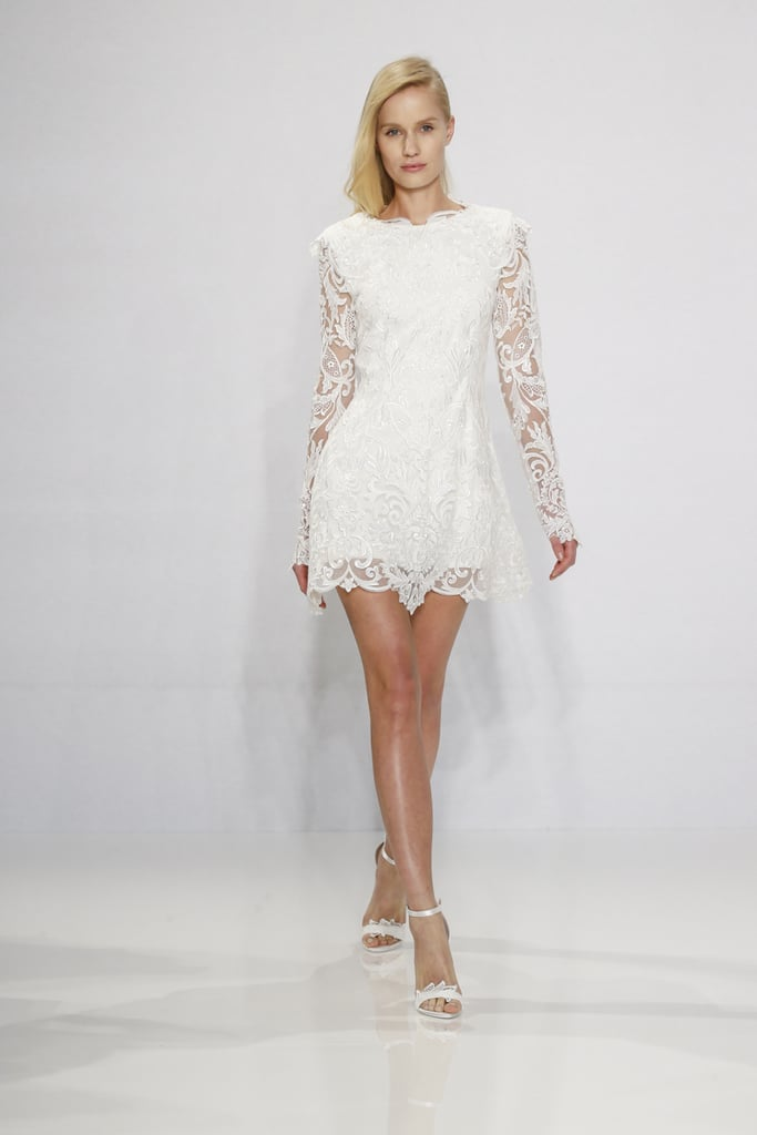Long-sleeved lace dress. | Christian Siriano Wedding Dresses 2016 ...