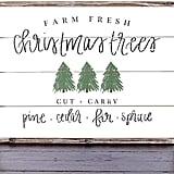 Sweet Water Christmas Tree Wood Sign