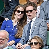 Hannah Bagshawe and Eddie Redmayne at Day 13 of Wimbledon