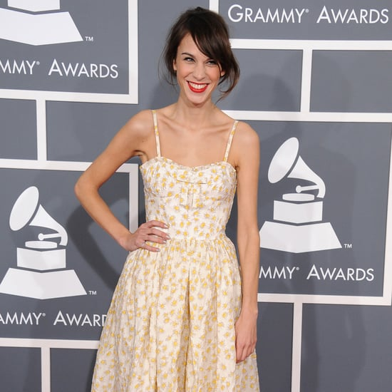 See Alexa Chung in Floral Frock at 2013 Grammy Awards