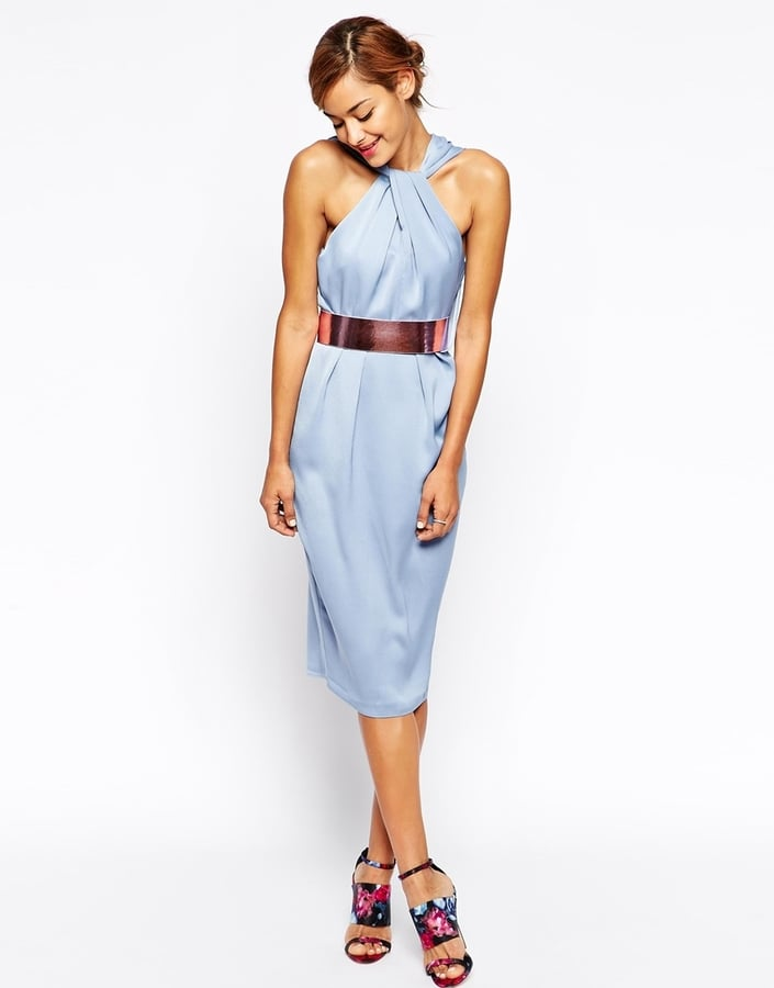 c179984c9b0 ASOS twist front dress with metallic belt (£55)