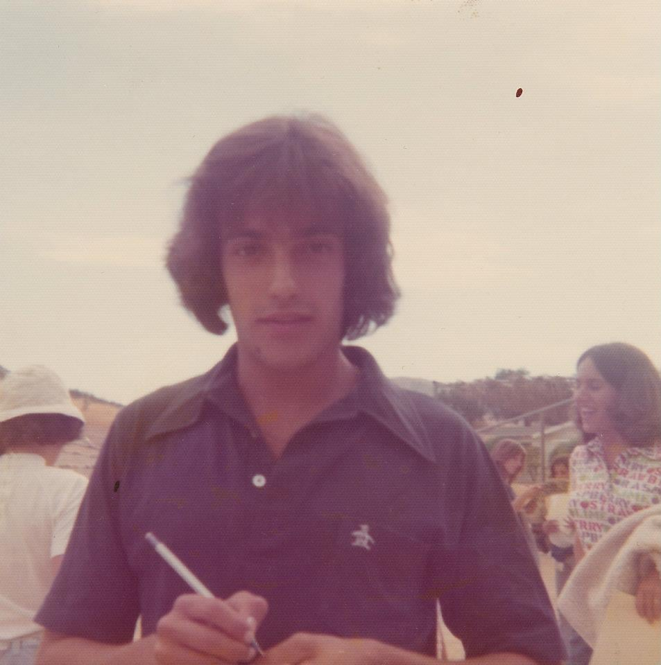 """Here I am taking names and sporting the trendy Penguin polo shirt as a counselor-in-training at Summer camp in 1972. They still sell this label, though not with that badass '70s collar."" — David Grant, president, PopSugar Studios and father of three"