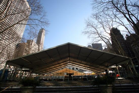 Bryant Park Prepares For Fashion Week