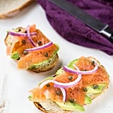 Smoked Salmon, Onions, and Capers Avocado Toast
