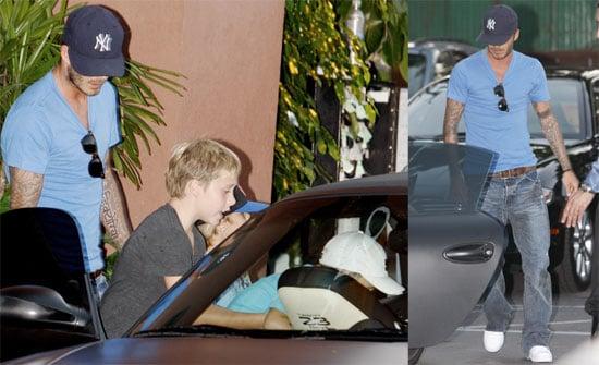 Photos of David Beckham with His Boys