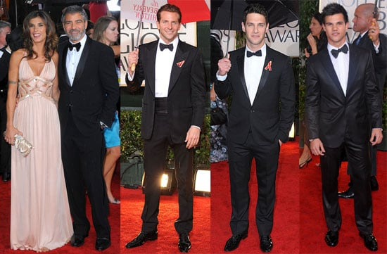 Photos of George Clooney and Taylor Lautner on the Red Carpet at the 2010 Golden Globe Awards in LA 2010-01-17 23:56:12