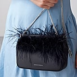 Loeffler Randall Maisie Feather Hinge Clutch