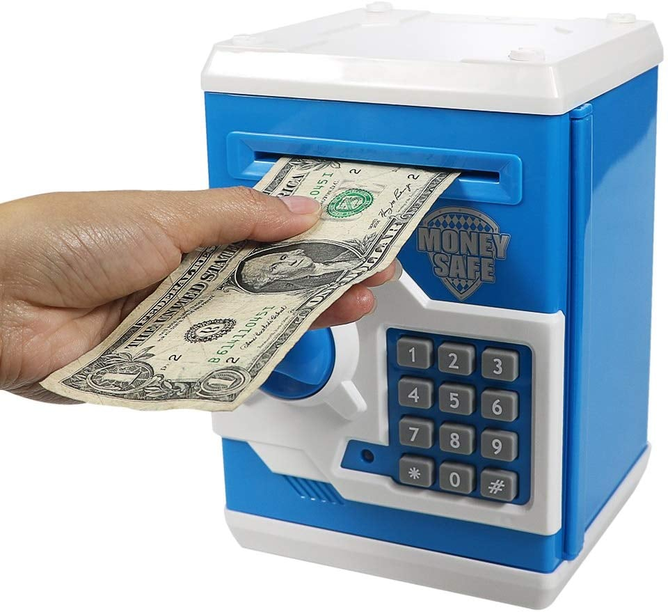 For 7-Year-Olds: Electronic Piggy Bank Mini ATM