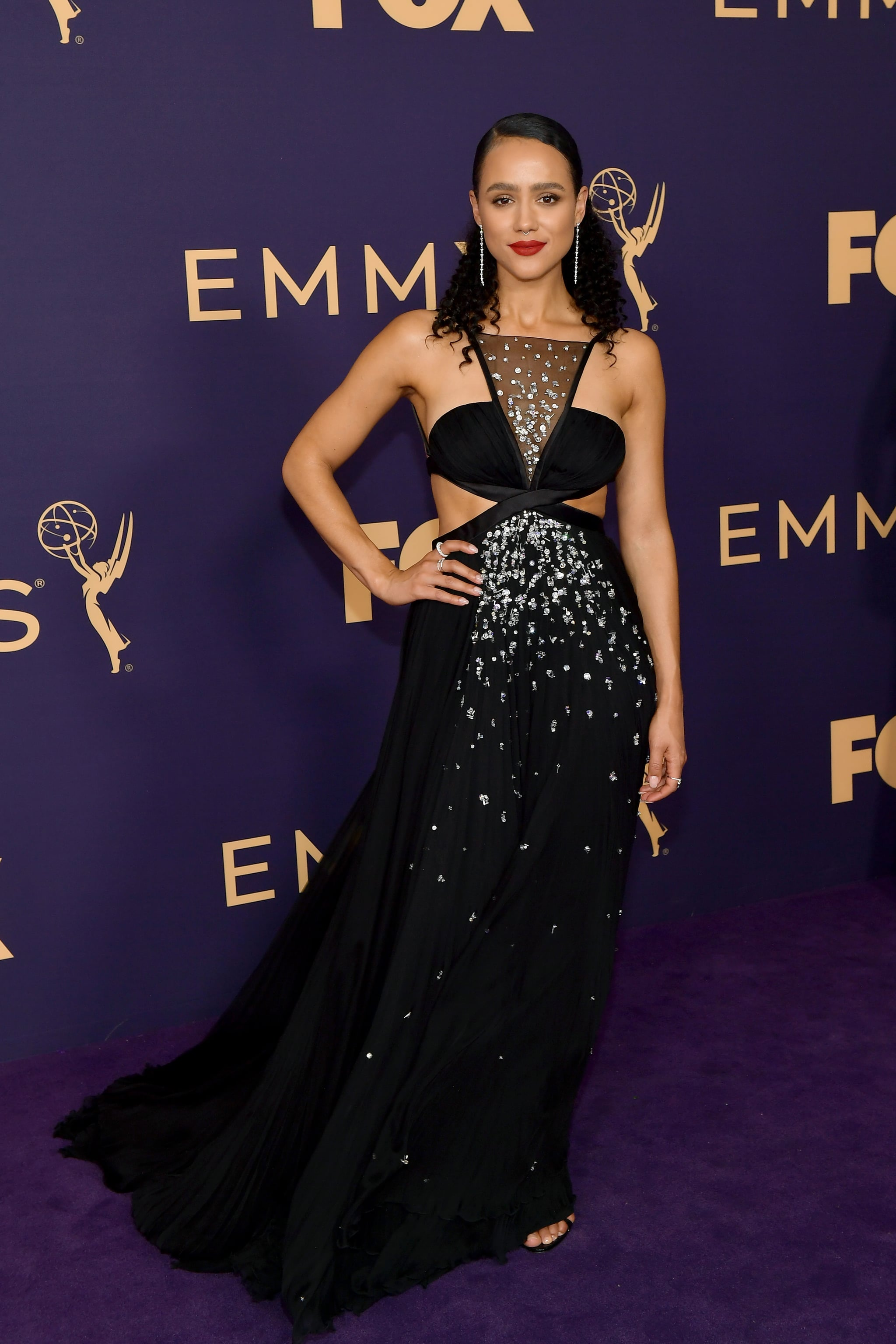Nathalie Emmanuel at the 2019 Emmy Awards   These Sexy Emmys Red Carpet  Dresses Are So Hot, They Deserve an Award of Their Own   POPSUGAR Fashion  Photo 41