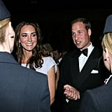 Prince William and Kate Middleton at BAFTA Brits to Watch dinner.
