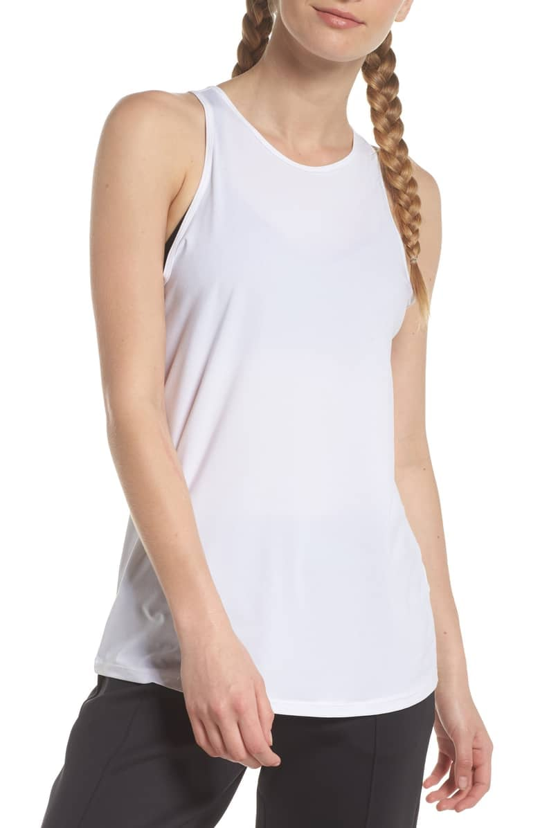 Zella Strength Racerback Tank | If You've Been Caught Off Guard by Gym  Cleavage, You Need a High-Neck Tank Top | POPSUGAR Fitness Photo 6
