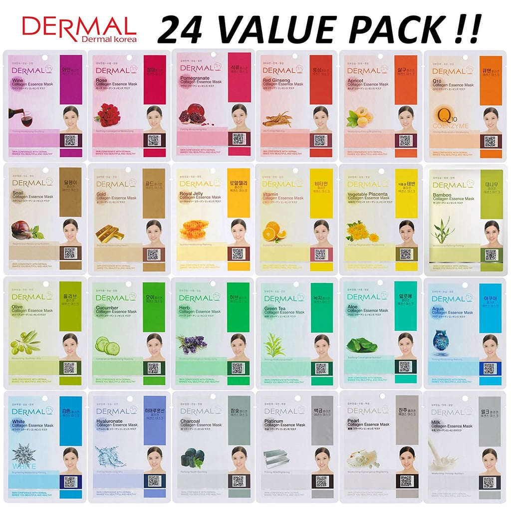 DERMAL Collagen Essence Full Face Facial Mask Sheet Set
