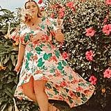 Plus-Size Floral Button-Front Dress
