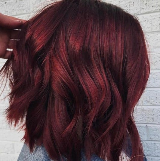 Mulled Wine Winter Hair Colour Trend