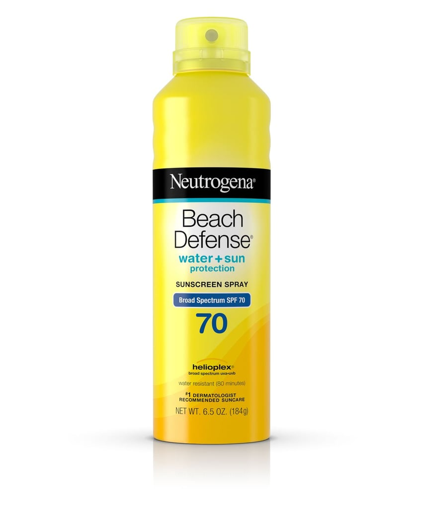 #5 Spray: Neutrogena Beach Defense Broad Spectrum Sunscreen Body Spray SPF 70