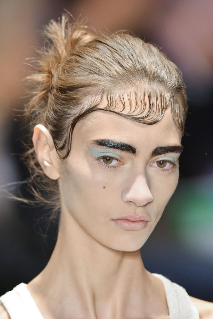 Slicked Matted Hair Beauty Trends Spring 2014 Paris