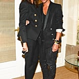 At the Balmain afterparty, Emmanuelle Alt joined Olivier Rousteing to celebrate his Paris Fashion Week show.