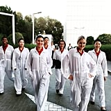 Who run the world?🌎 GIRLS!!! 💃🏻💃🏼💃🏽 #eac #emiratesaviationcollege #firefighters #girls #emiratescabincrew #ekcabincrew #crewlife #ek #dubai #mydubai #uae #DXB