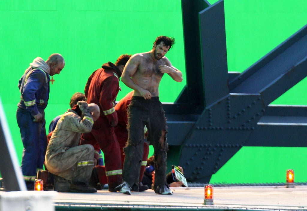 Henry Cavill filmed shirtless scenes for Man of Steel.