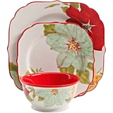 The Pioneer Woman Poinsettia 12-Piece Dinnerware Set ($50)