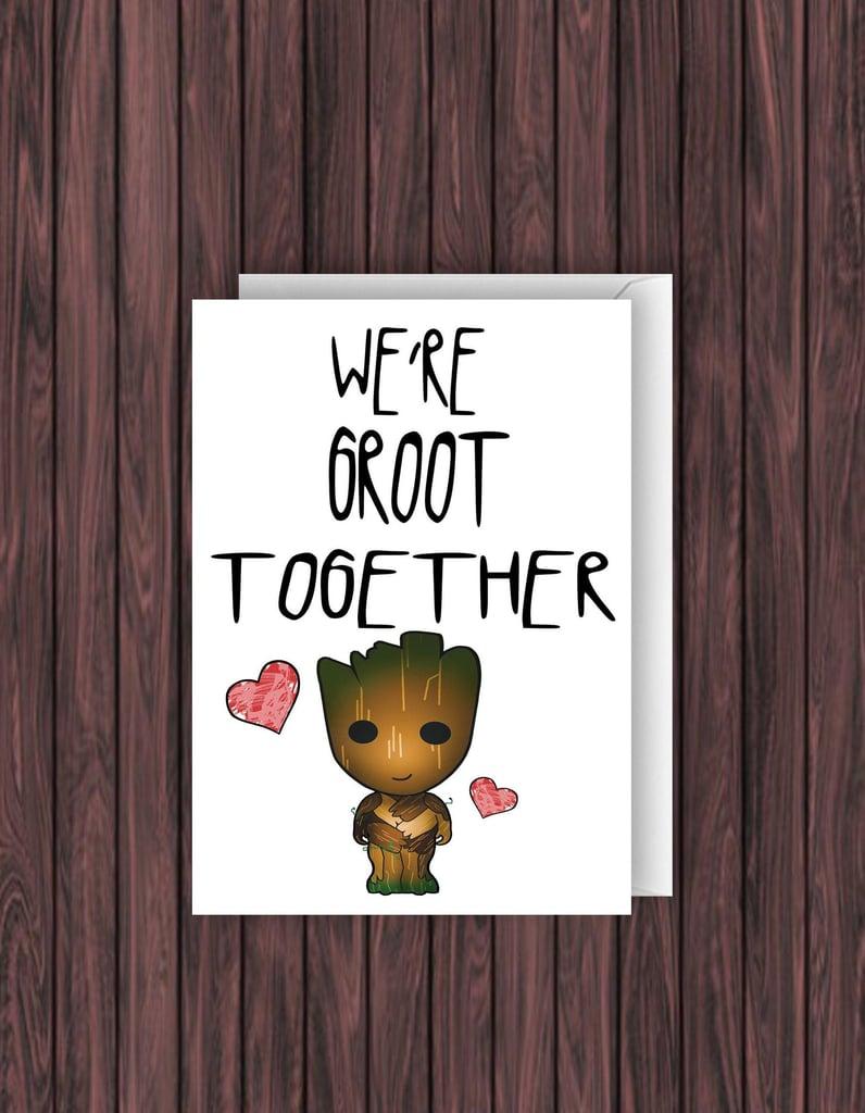Groot Valentine's Card